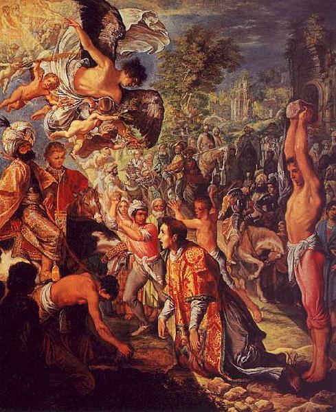 Adam  Elsheimer The Stoning of St.Stephen oil painting image