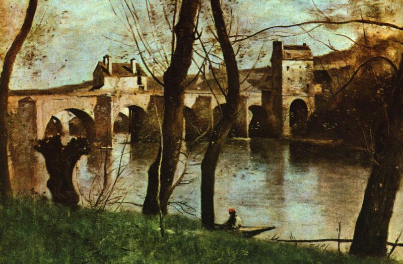 Jean Baptiste Camille  Corot The Bridge at Nantes oil painting image
