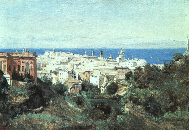 Jean Baptiste Camille  Corot View of Genoa oil painting image