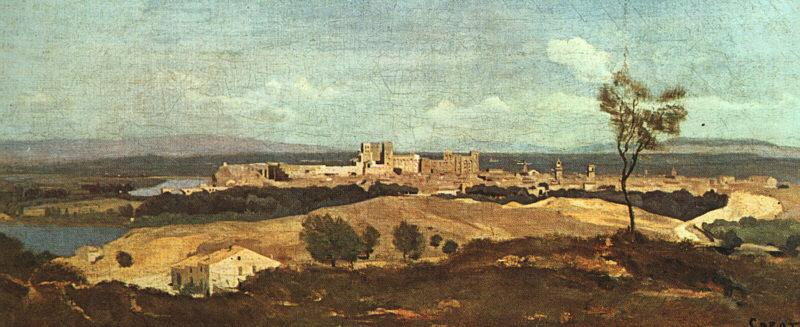 Jean Baptiste Camille  Corot Avignon from the West oil painting image