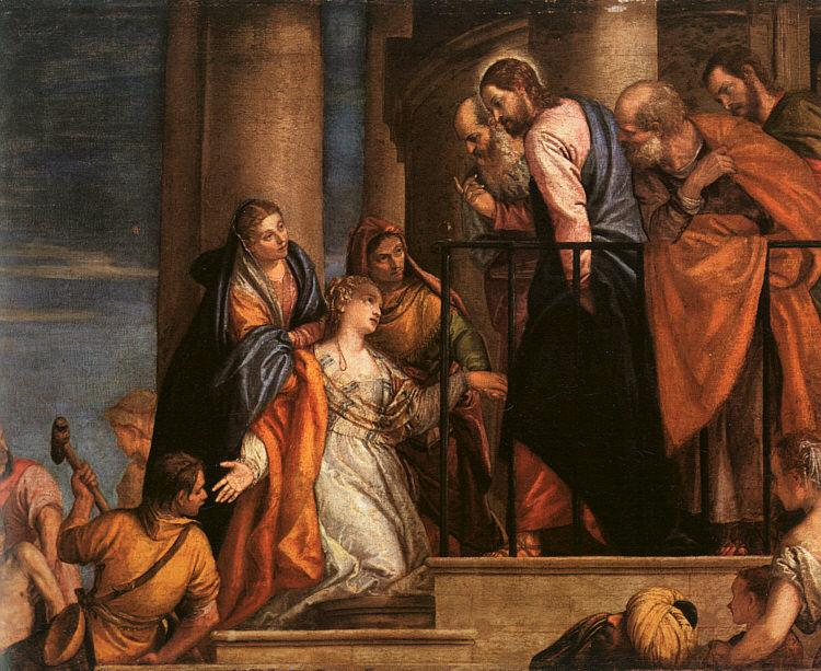 Paolo  Veronese Christ and the Woman with the Issue of Blood oil painting image
