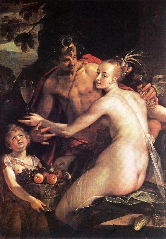 AACHEN, Hans von Bacchus, Ceres and Cupid oil painting image
