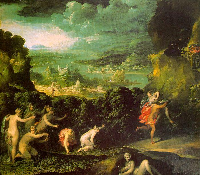 ABBATE, Niccolo dell The Rape of Proserpine  gfgf oil painting image