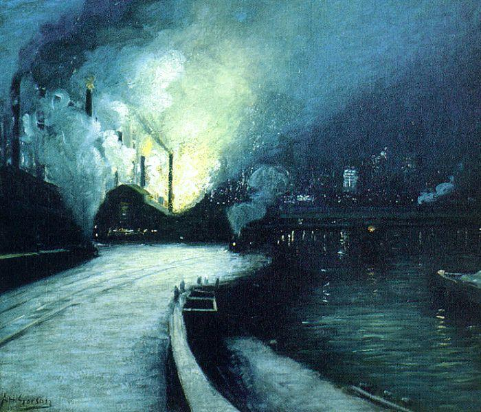 Aaron Harry Gorson Industrial Scene, Pittsburgh oil painting image