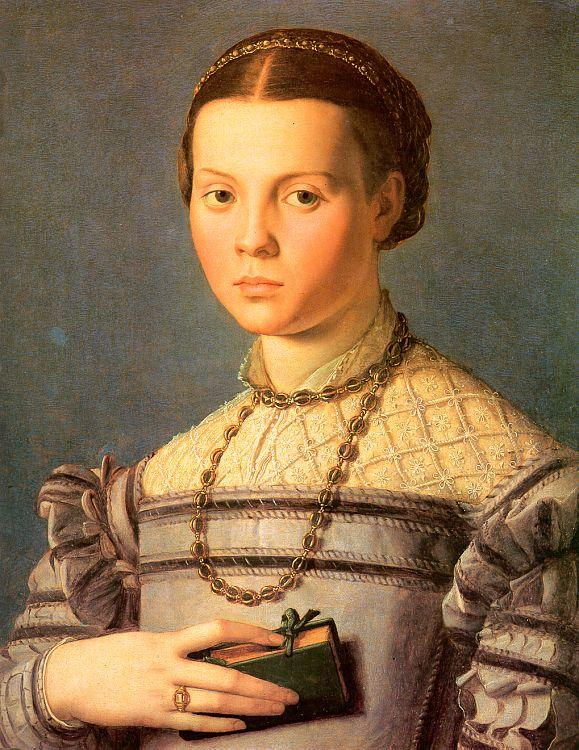 Agnolo Bronzino Portrait of a Young Girl with a Prayer Book oil painting image