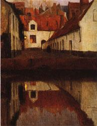 Albert Baertsoen Little Town on the Edge of Water(Flanders) oil painting image