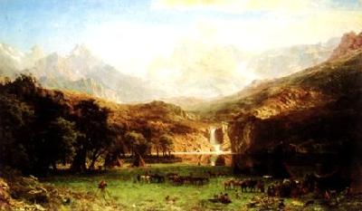 Albert Bierstadt The Rocky Mountains oil painting image