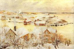 Albert Edelfelt December Day oil painting image
