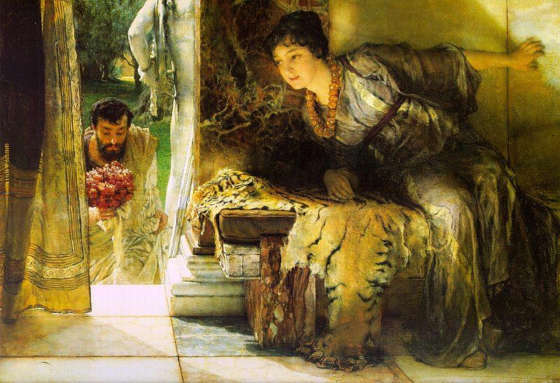 Alma Tadema Welcome Footsteps oil painting image