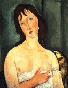 Amedeo Modigliani Portrait of a yound woman (Ragazza) oil painting image