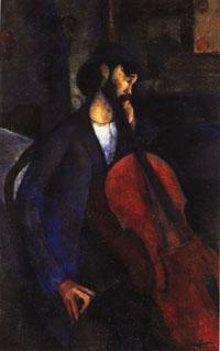 Amedeo Modigliani The Cellist oil painting image