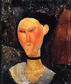 Amedeo Modigliani Woman with a Velvet Ribbon oil painting image