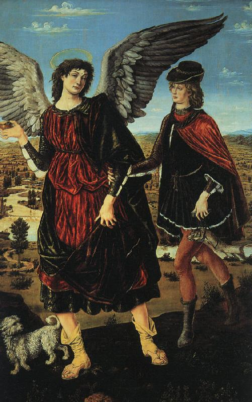 Antonio Pollaiuolo Tobias and the Angel oil painting image