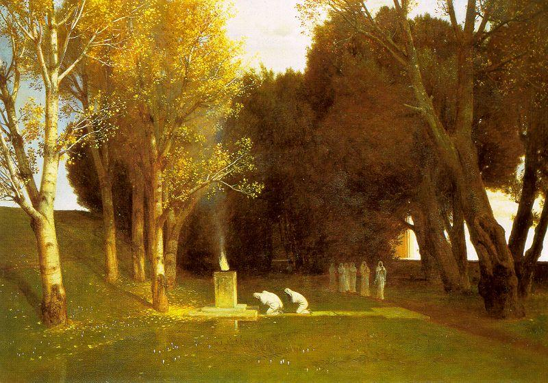 Arnold Bocklin The Sacred Wood oil painting image