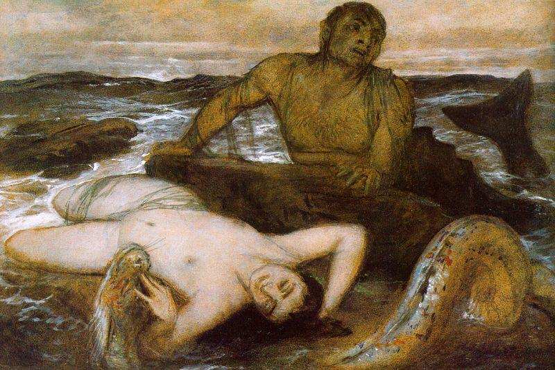 Arnold Bocklin Triton and Nereid oil painting image