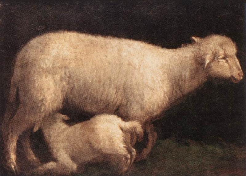 BASSANO, Jacopo Sheep and Lamb dghj oil painting image