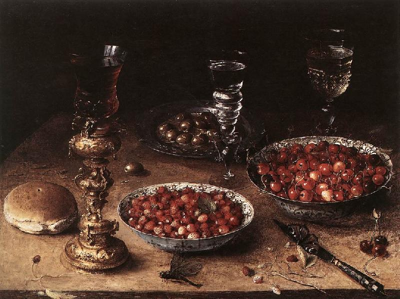 BEERT, Osias Still-Life with Cherries and Strawberries in China Bowls oil painting image