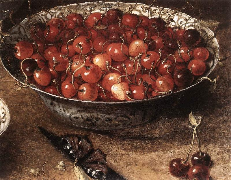 BEERT, Osias Still-Life with Cherries and Strawberries in China Bowls (detail) ghmh oil painting image