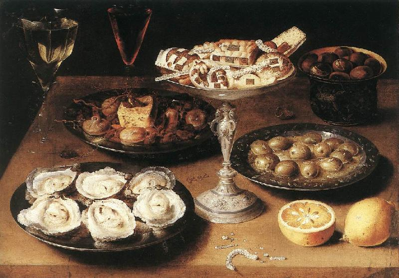 BEERT, Osias Still-Life with Oysters and Pastries oil painting image
