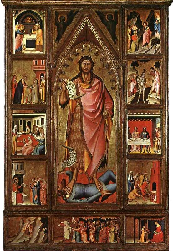 BIONDO, Giovanni del Altarpiece of the Baptist fgf oil painting image