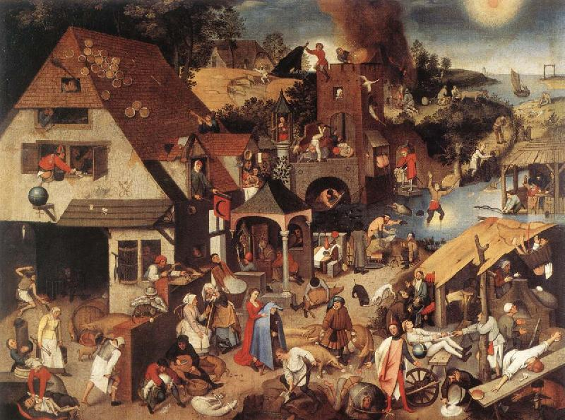 BRUEGHEL, Pieter the Younger Proverbs fd oil painting image