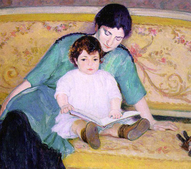 Bernhard Gutmann Mother and Baby Elizabeth oil painting image