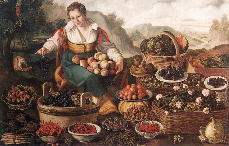 CAMPI, Vincenzo The Fruit Seller oil painting image