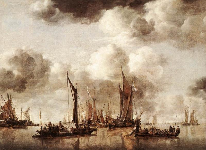 CAPELLE, Jan van de Dutch Yacht Firing a Salvo fg oil painting image
