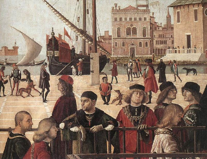 CARPACCIO, Vittore Arrival of the English Ambassadors (detail) fg oil painting image