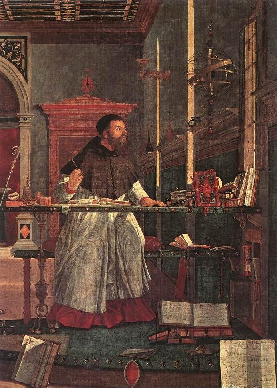 CARPACCIO, Vittore Vision of St Augustin (detail) dsf oil painting image