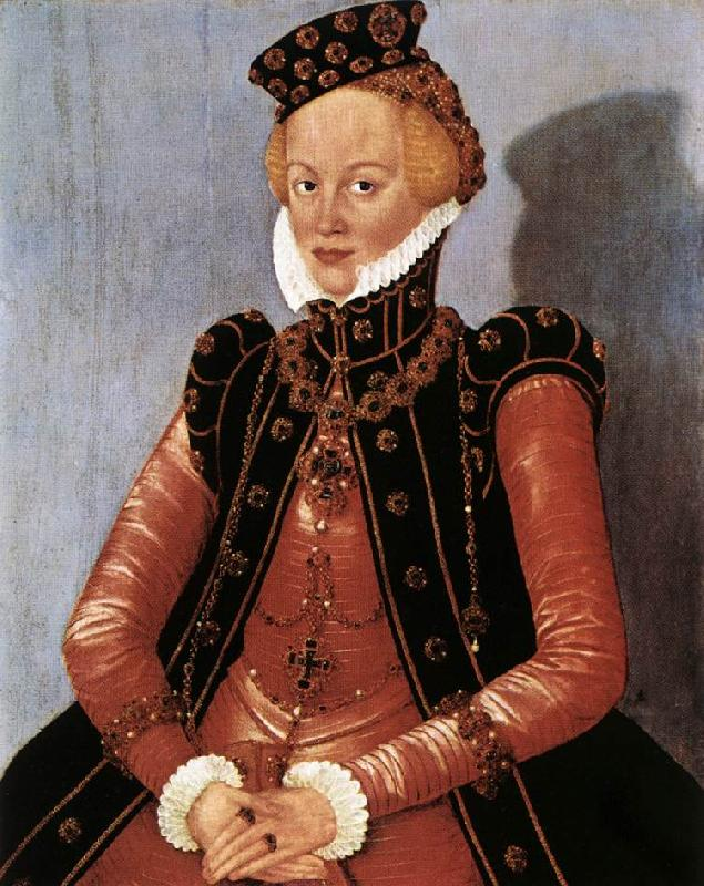 CRANACH, Lucas the Younger Portrait of a Woman sdgsdftg oil painting image