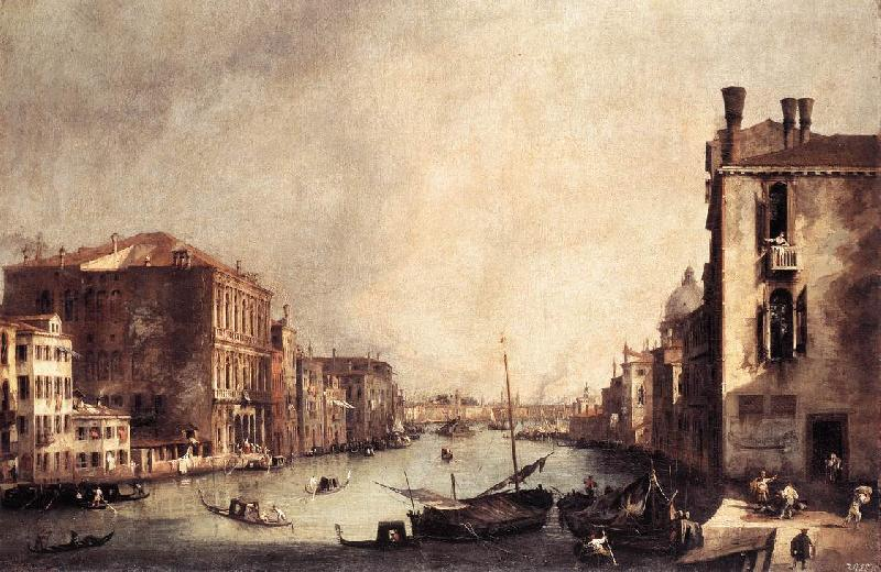 Canaletto Rio dei Mendicanti: Looking South oil painting image