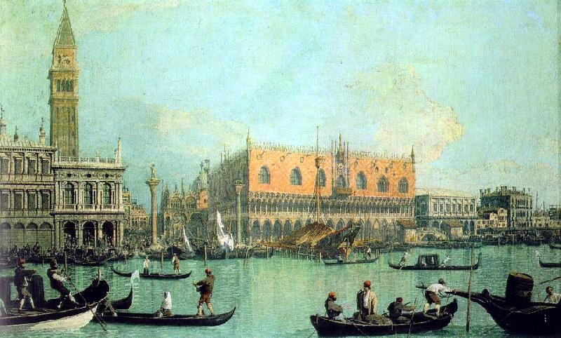 Canaletto Veduta del Palazzo Ducale oil painting image