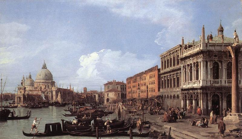 Canaletto The Molo: Looking West sf oil painting image