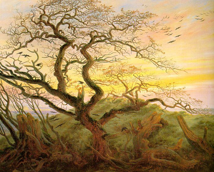 Caspar David Friedrich The Tree of Crows oil painting image