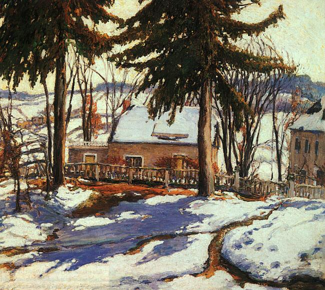 Charles Reiffel February Thaw, Silvermine Connecticut oil painting picture