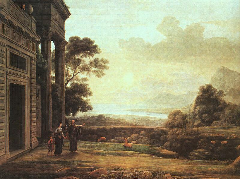 Claude Lorrain The Departure of Hagar and Ishmael oil painting image