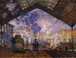 Claude Monet Gare Saint-Lazare oil painting image