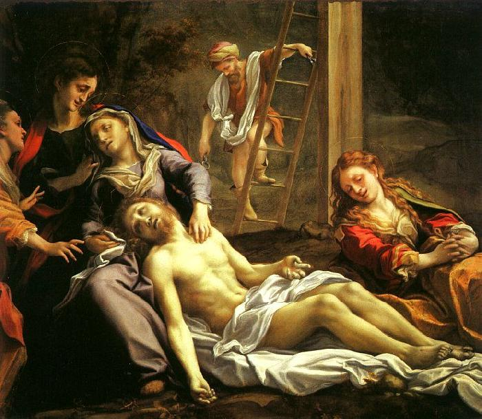 Correggio Deposition oil painting image