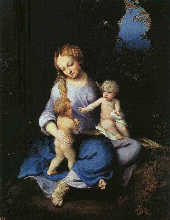 Correggio Madonna and Child with the Young Saint John oil painting image