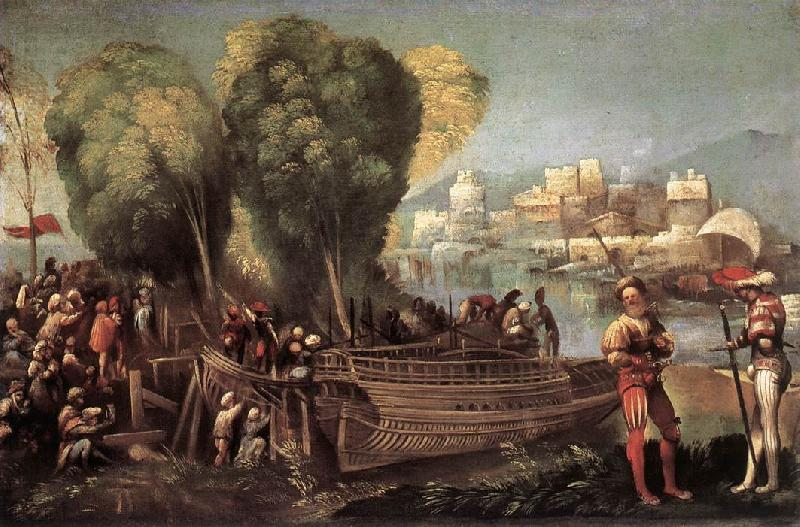 DOSSI, Dosso Aeneas and Achates on the Libyan Coast df oil painting image