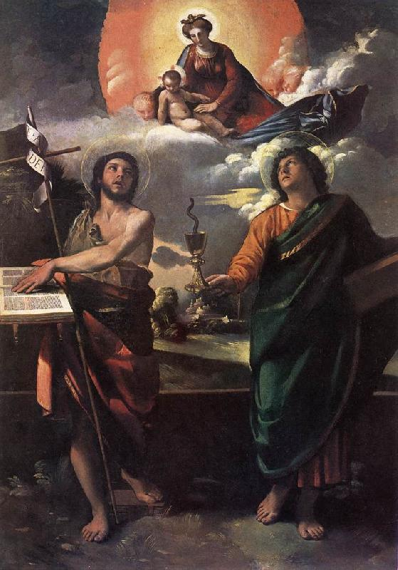 DOSSI, Dosso The Virgin Appearing to Sts John the Baptist and John the Evangelist dfg oil painting image