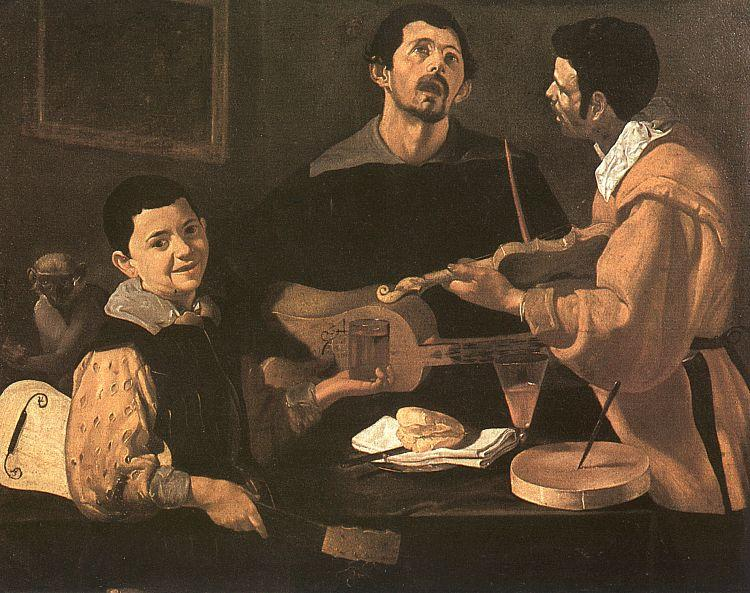 Diego Velazquez Three Musicians oil painting image