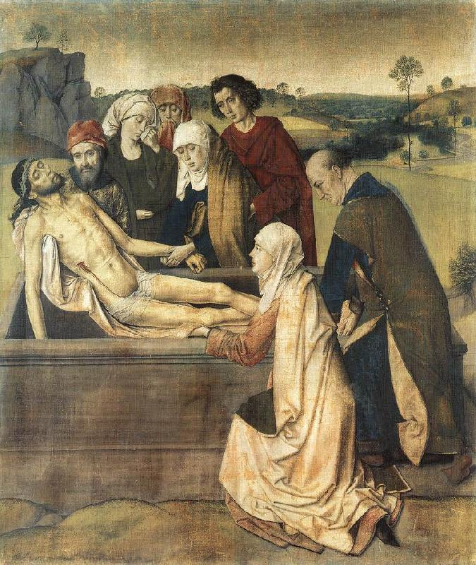 Dieric Bouts The Entombment oil painting image
