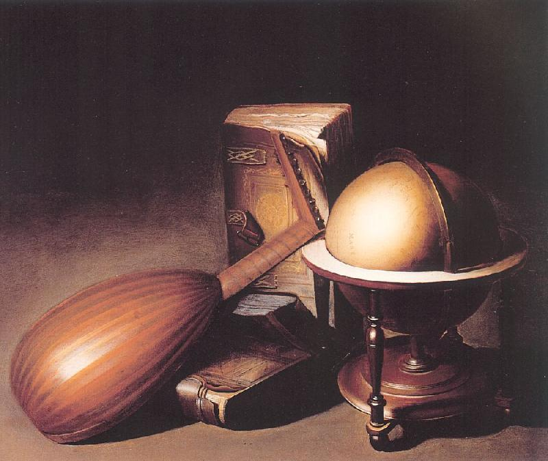 Dosso Dossi Still Life with Globe, Lute and Books oil painting image