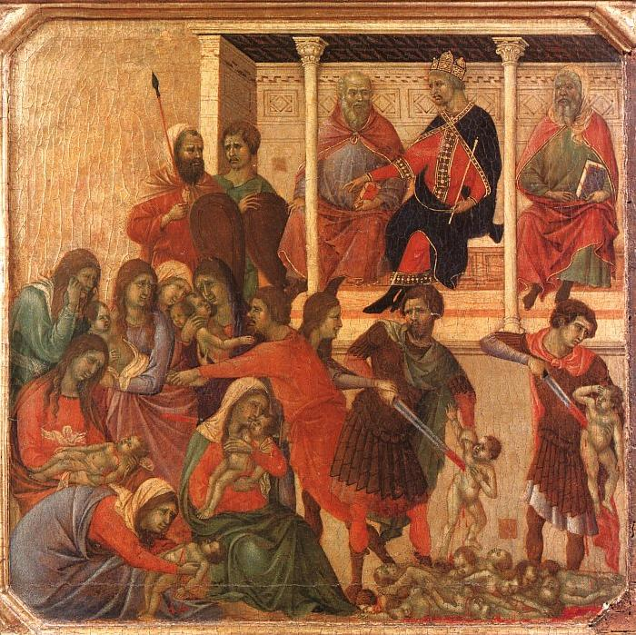 Duccio di Buoninsegna Slaughter of the Innocents oil painting image