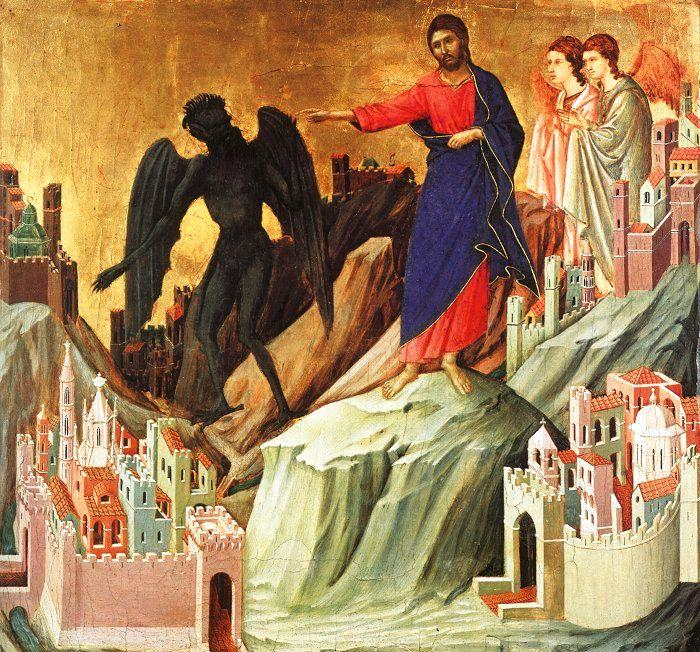 Duccio di Buoninsegna Temptation on the Mount oil painting image