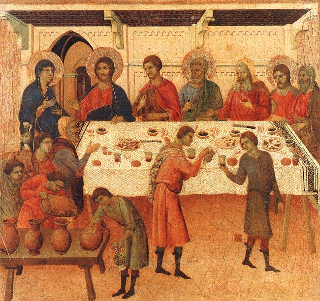 Duccio di Buoninsegna Wedding at Cana oil painting image