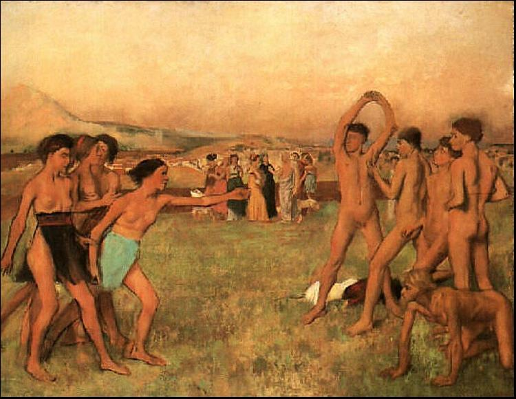 Edgar Degas The Young Spartans Exercising oil painting image