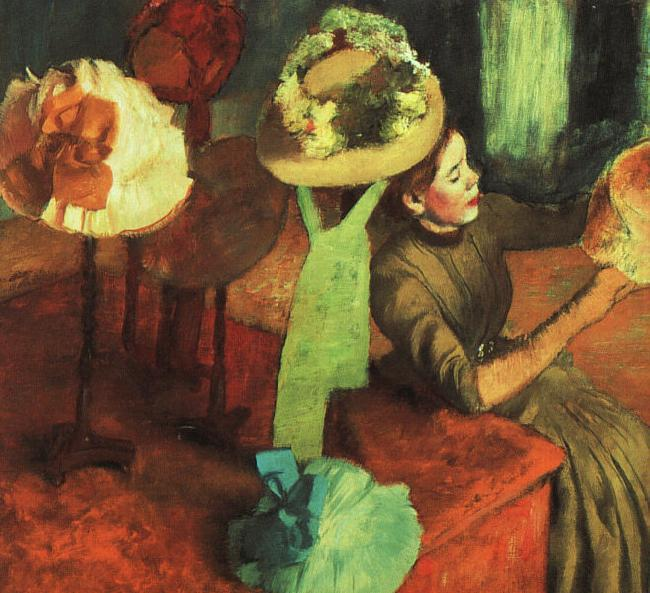 Edgar Degas The Millinery Shop oil painting image